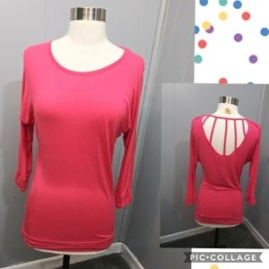Charlotte Russe Pink Caged Back Top
